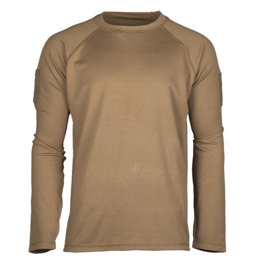 Mil-Tec Langarmshirt Tactical Quick Dry dark coyote