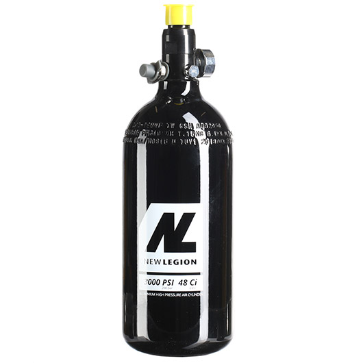 New Legion 0,8L / 48ci HPA Tank mit Regulator 3000 PSI / 850 PSI schwarz