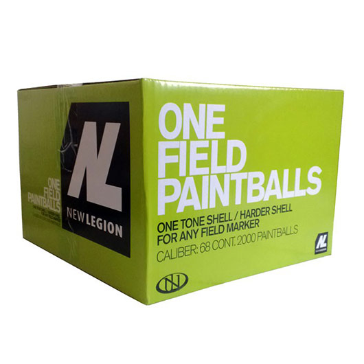 New Legion One Field Paintballs 2000er Karton Kal. .68 gelb 0