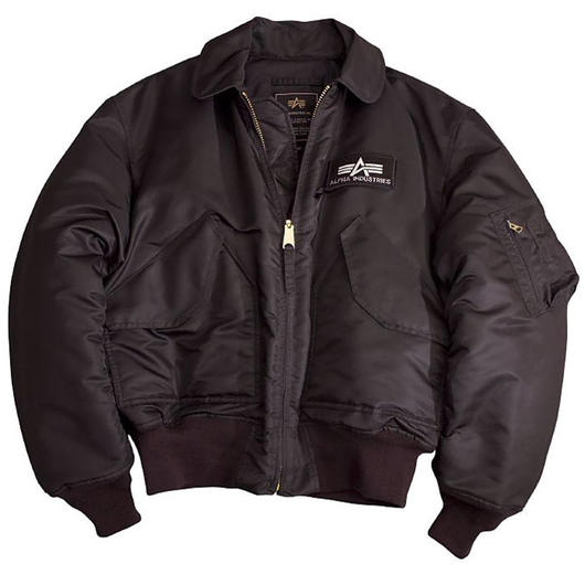 CWU-45/P Fliegerjacke Alpha Industries, schwarz