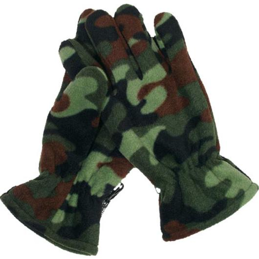 Fleece-Fingerhandschuhe, woodland