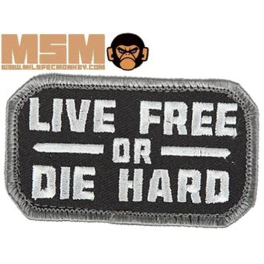 Mil-Spec Monkey Live Free Or Die Hard Patch Swat