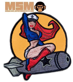 Mil-Spec Monkey Pin Up Girl Patch Farbig 0