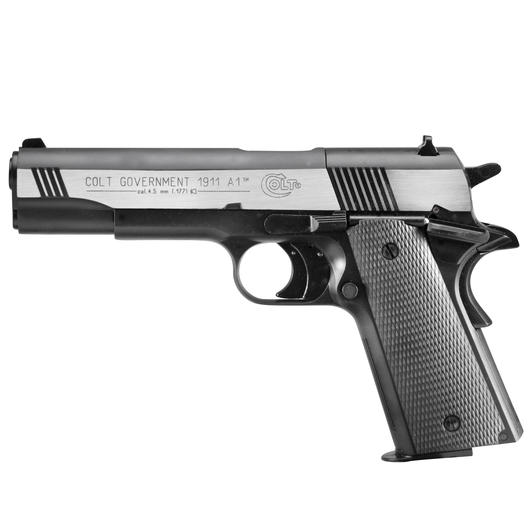 Colt Government 1911 A1 CO2 Luftpistole 4,5 mm Diabolo Dark Ops Finish