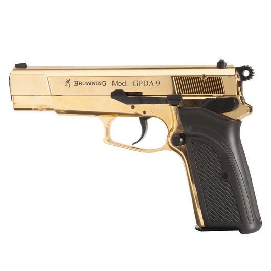 browning gpda9 schreckschuss pistole 9mm p a k gold. Black Bedroom Furniture Sets. Home Design Ideas