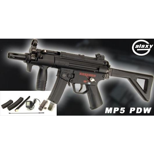 Galaxy MP5 PDW AEG 6mm BB Komplettset