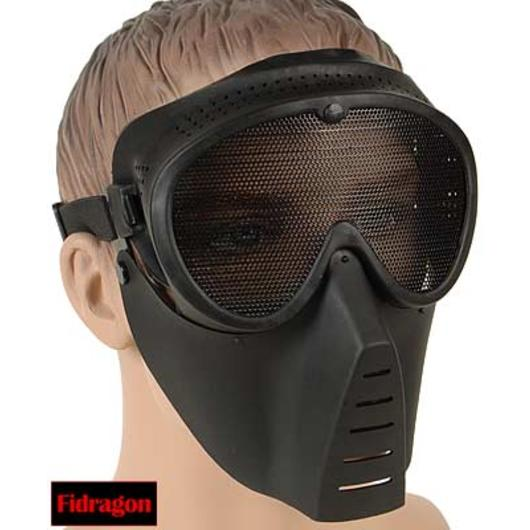 Fidragon Softair Maske schwarz