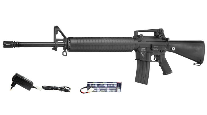 Echo1 Stag Arms MOD15 Rifle Komplettset S-AEG 6mm BB schwarz