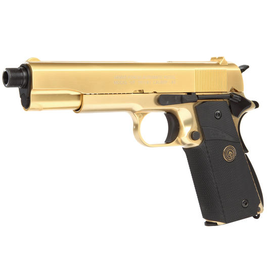 Socom Gear M1911A1 Vollmetall GBB 6mm BB 24K Gold-Plated - Limited Edition
