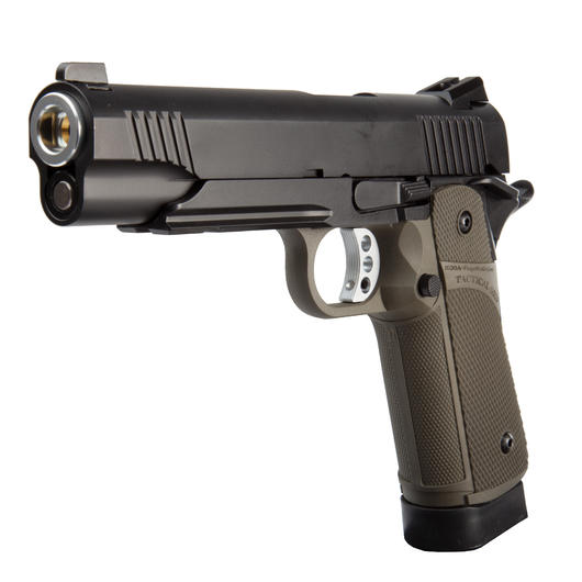KJ Works KP-05 Hi-Capa Vollmetall CO2 BlowBack 6mm BB oliv