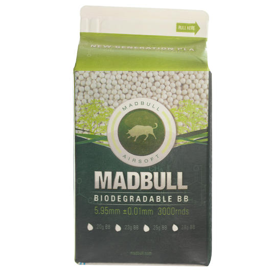 MadBull PLA Biodegradable BBs 0.23g 3000er Michtüte weiss