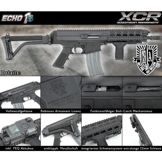 Echo1 Robinson Arms XCR Vollmetall S-AEG 6mm BB