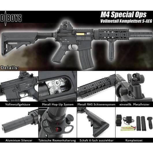 DBoys M4 Special Ops Vollmetall Komplettset S-AEG
