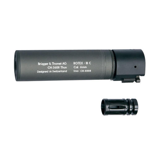 ASG B&T Rotex IIIA Compact Silencer 14mm- grau
