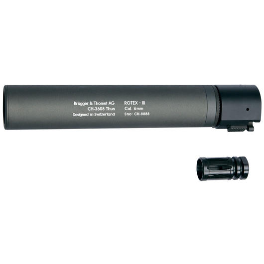 ASG B&T Rotex IIIA Silencer 14mm- grau