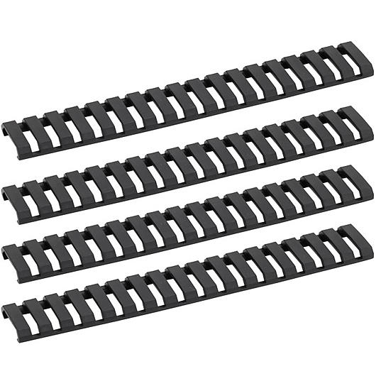 G&G Ladder Rail Cover 178mm 4er Set - schwarz
