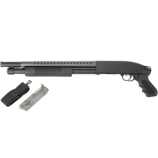 D.E. M500 Combat Shotgun Short Set Springer 6mm BB schwarz