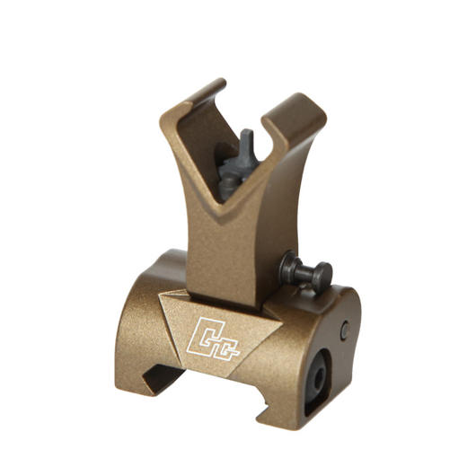 G&G Flip-Up Front Battle Sight für 21mm Schienen Desert Tan
