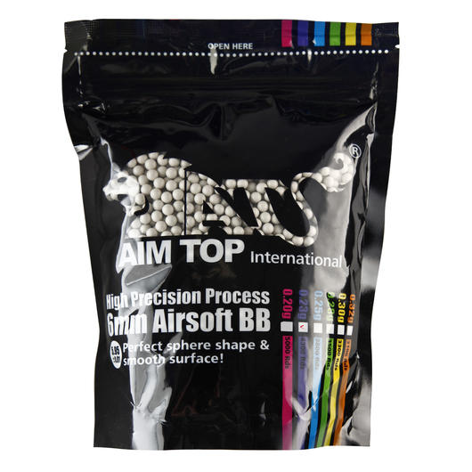 AIM Top Premium Grade Bio BBs 0,23g 4.300er Beutel light-grey