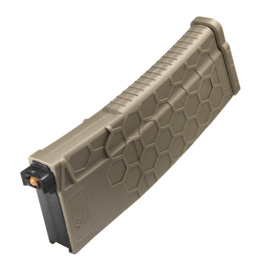 Dytac Hexmag HX Polymer Magazin Mid-Cap 120 Schuss f. Systema PTW M4 Serie Flat Dark Earth