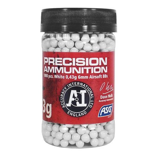 ASG / Accuracy International Precision Ammunition BBs 0.43g 1.000er Container weiss