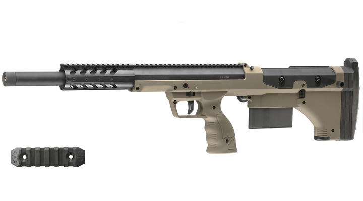 Silverback Desert Tech SRS-A1 Covert Sport 20 Zoll Pull-Bolt Bullpup Springer 6mm BB Flat Dark Earth - 2018 Version Gen. 3