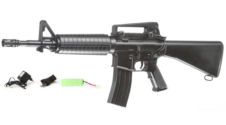 Well M4A1 Rifle Komplettset AEG 6mm BB schwarz