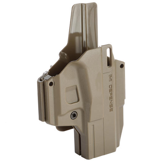 IMI Defense MORF X3 Polymer Holster IWB / OWB / Paddle für Glock 19 Rechts / Links Tan
