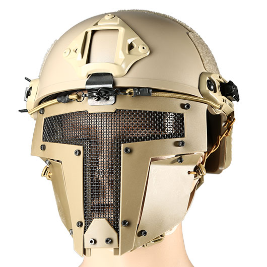 Evolution Airsoft Spartan Gittermaske f. FAST Helme Dark Earth