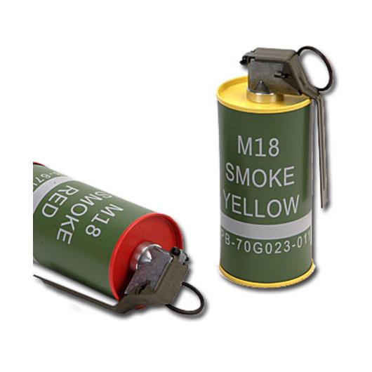 G g m18 smoke grenade deko metall rauchgranaten set 2 for Deko metall