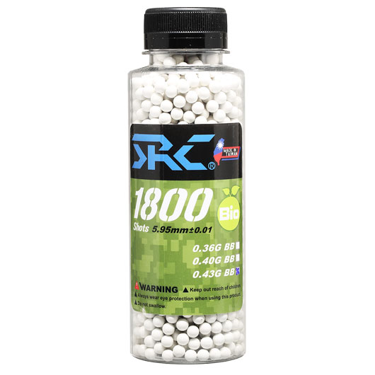 SRC High Precision Perfect Bio BBs 0,43g 1.800er Flasche weiss