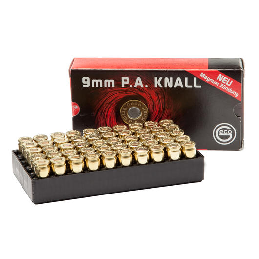 Geco Knallpatronen, 9mm P.A.K. 50 St�ck