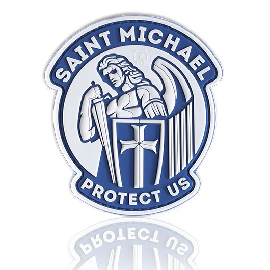 JTG 3D Rubber Patch Saint Micheal Klettfläche blau 0