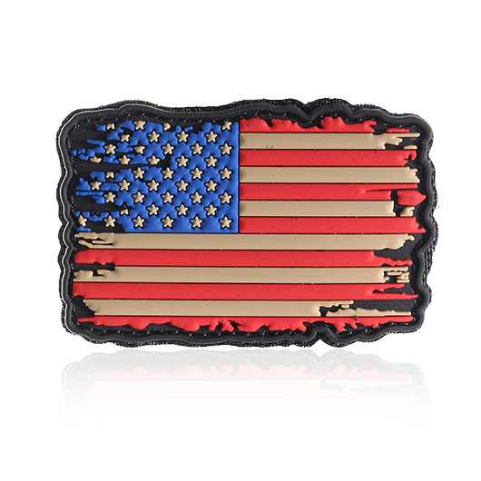 101 INC 3D Rubber Patch USA Flagge vintage Klettfläche 0