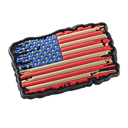 101 INC 3D Rubber Patch USA Flagge vintage Klettfläche 1