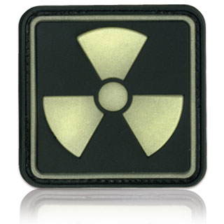 3D Rubber Patch Radioactive 1 Glow nachleuchtend 0