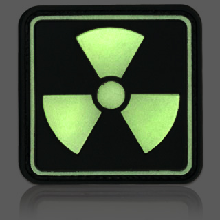 3D Rubber Patch Radioactive 1 Glow nachleuchtend 1