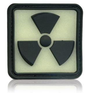 3D Rubber Patch Radioactive 2 Glow nachleuchtend 0