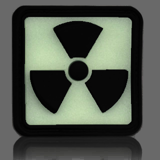 3D Rubber Patch Radioactive 2 Glow nachleuchtend 1