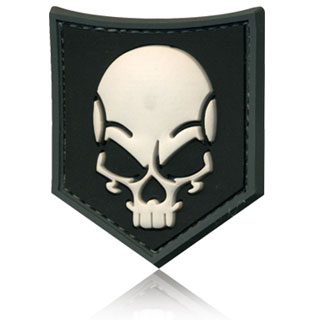 3D Rubber Patch SOF Skull swat