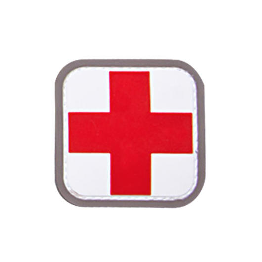 3D Rubber Patch Medic Abzeichen weiß rot