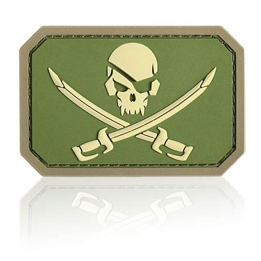 3D Rubber Patch Mil-Spec Monkey Pirate Skull multicam