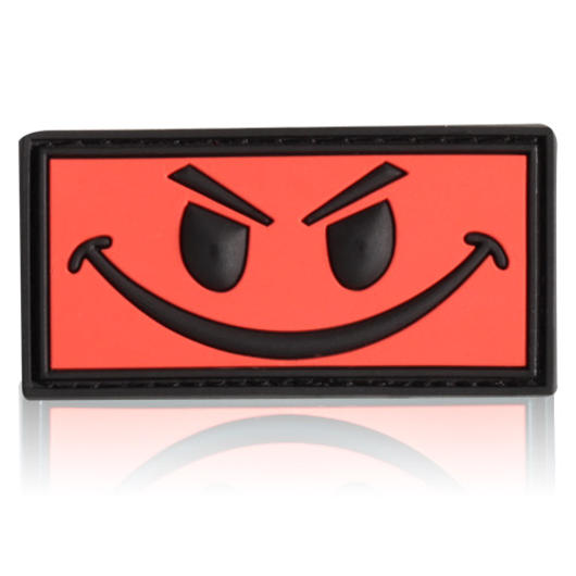 3D Rubber Patch Evil Smiley rot