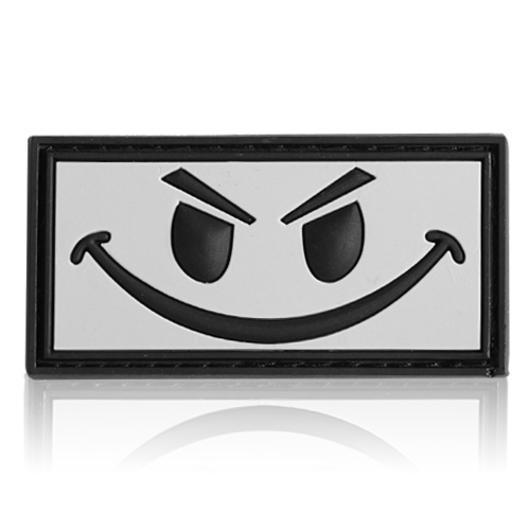 3D Rubber Patch Evil Smiley snow