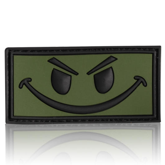3D Rubber Patch Evil Smiley oliv schwarz