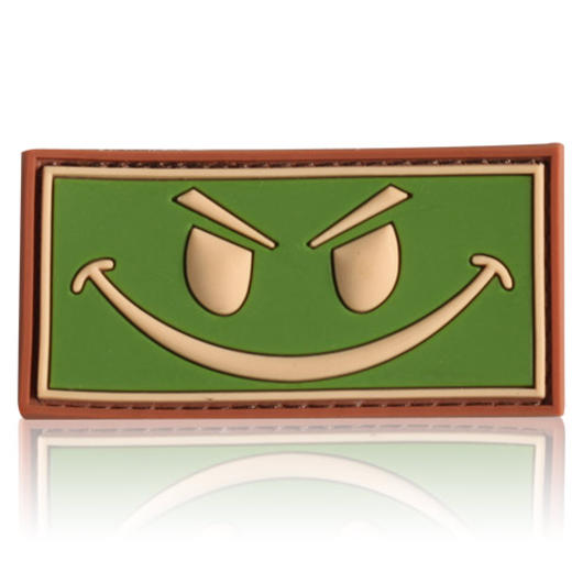 3D Rubber Patch Evil Smiley multicam