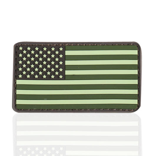 3D Rubber Patch Flagge USA forest