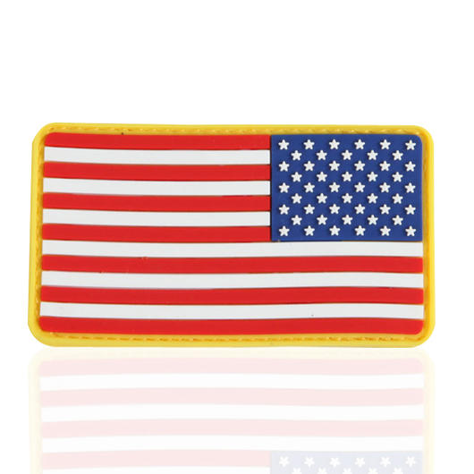 3D Rubber Patch Flagge USA reversed full color