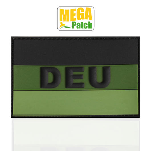 3D Rubber Patch Deutschland DEU forest 8 x 5 cm