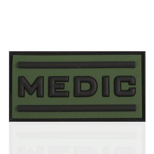3D Rubber Patch Black Medic forest